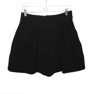 Marc By Marc Jacobs Black Pleated A-line Skirt